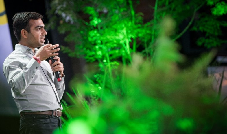 Shubhendu Sharma lors d'une conférence Aux Arbres 2018