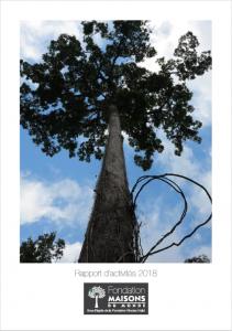 Page de couverture rapport fondation 2018