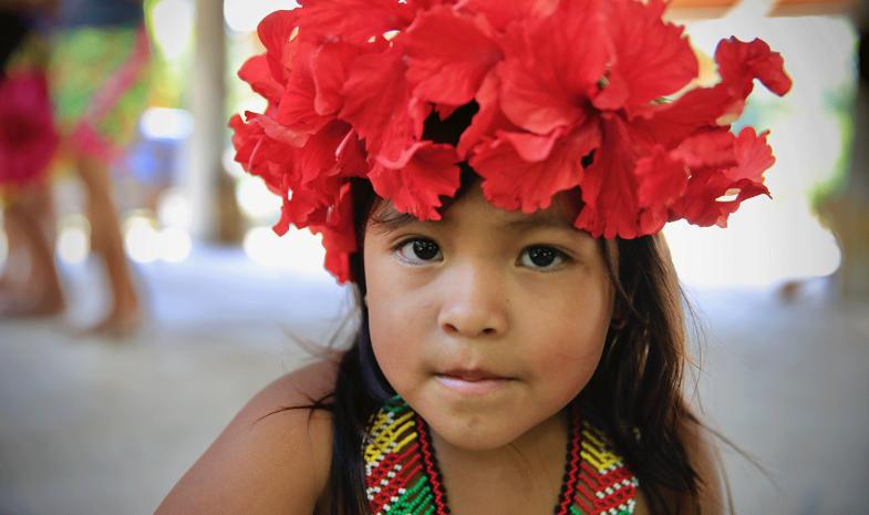 Petite fille Embera, au Panama